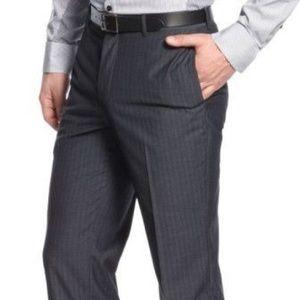 INC London Gray Pinstripe Dress Pants